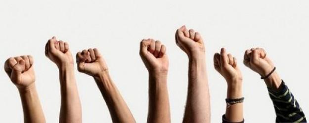 Fist-in-air
