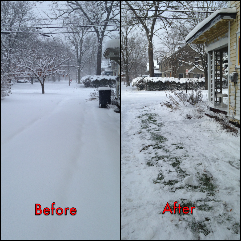 Winter has taught me to approach even the most detestable tasks, like snow shoveling, with a better attitude.