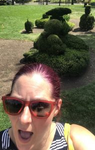 Selfie at the Topiary Park.