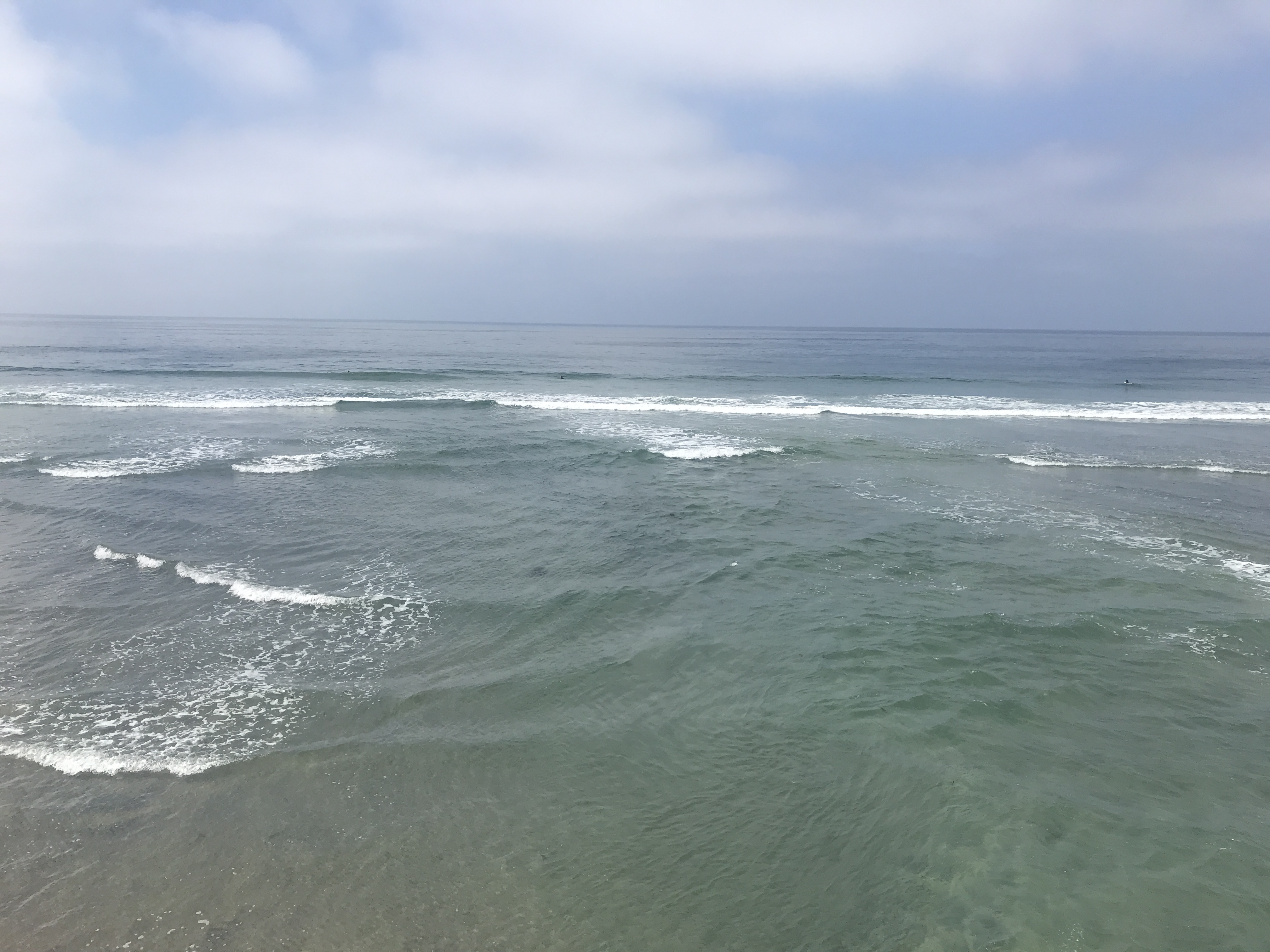 Waves in the Pacific Ocean at Imperial Beach California
